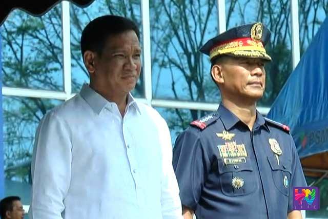 DILG Secretary Mel 'Senen' Sarmiento and PNP Chief  PDG. Ricardo Marquez.