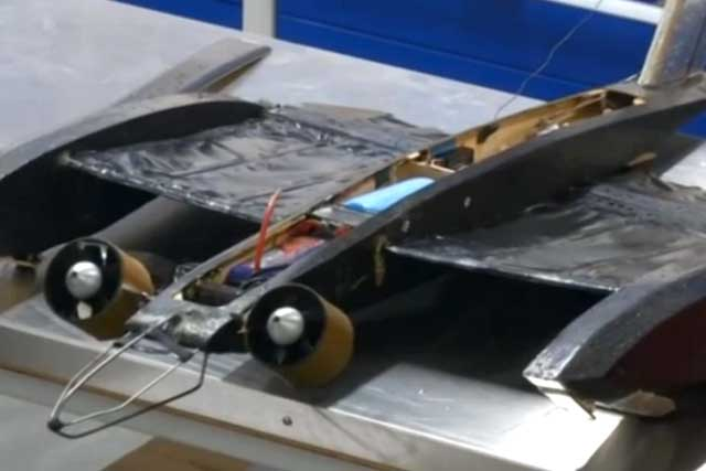 A bat wings-inspired drone. (Photo screengrab from Reuters video)