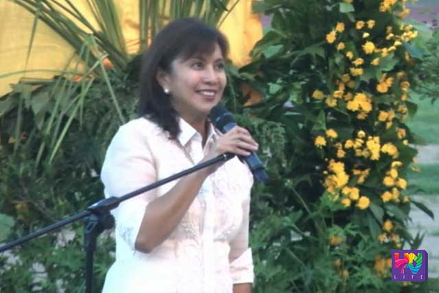 Incoming vice president Leni Robredo.
