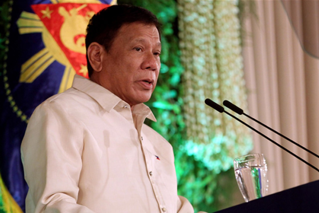 At exactly 12:00 noon on June 30th 2016, the nation witnessed the making of the 16th Philippine president as President Rodrigo Duterte was sworn into office by Supreme Court Justice Bienvenido L. Reyes, in front of more than 600 guests at the Rizal Ceremonial Hall in Malacañang. (RTVM)