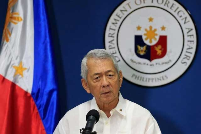 Monday, July 18, 2016 Philippine Foreign Secretary Perfecto Yasay gives a brief statement regarding the tribunal ruling on the South China Sea during a news conference at the Department of Foreign Affairs headquarters in Pasay city, metro Manila, Philippines July 12, 2016. REUTERS/Romeo Ranoco