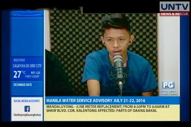 John Paul Macalindong speaks during the airing of Serbisyong Kasangbahay. (photo screengrab from Serbiyong Kasangbahay's video)