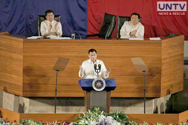 President Rodrigo Duterte in his first State of the Nation Address (SONA). (Photo courtesy: Kenji Hasegawa - Photoville International)