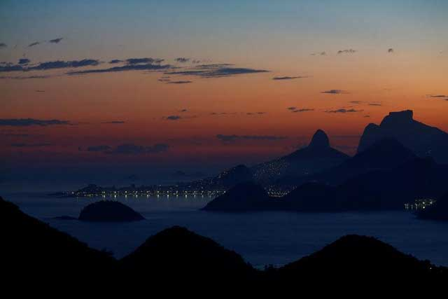 Wednesday, July 27, 2016 The Rio de Janeiro skyline is pictured during sunset from Niteroi, Brazil, May 31, 2016. REUTERS/Ricardo Moraes