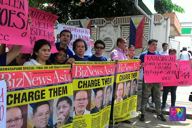 Families of slain SAF troopers in Mamasapano filed multiple homicide complaint against former president Benigno Aquino III.