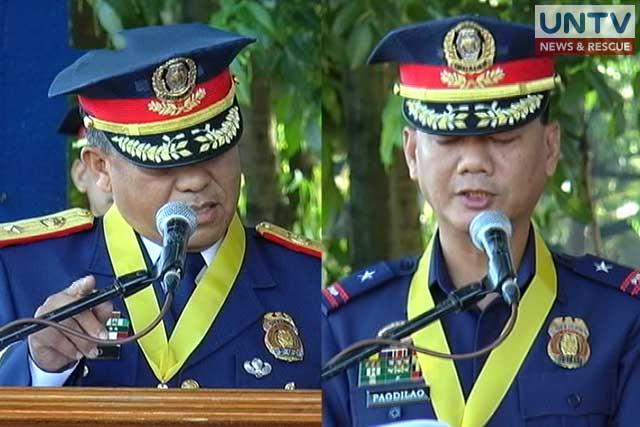 Police Chief Superintendent Edgardo Tinio (left) and PDir. Joel Pagdilao (right).