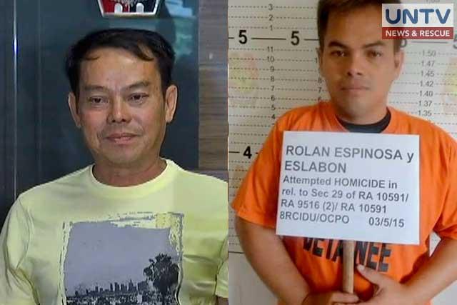 FATHER AND SON: Albuera, Leyte Mayor Rolando Espinosa Sr. (left) and Kerwin Espinosa (right).