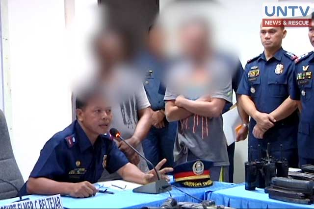 The two alleged men of Mayor Rolando Espinosa Sr. who were arrested in a buy-bust operation.