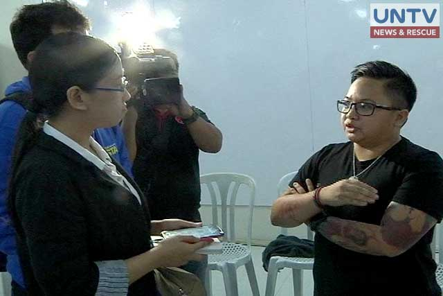 NYC Chairperson Aiza Seguerra talks with UNTV Correspondent Yoshiko Sata.
