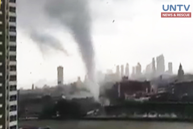 Twister ripped off the roof of a few houses and establishments in Manila and Quezon City