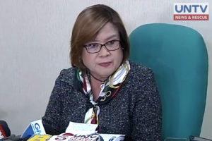 FILE PHOTO of Senator Leila de Lima