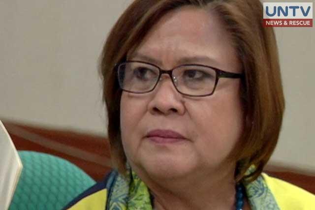 FILE PHOTO: Senator Leila de Lima