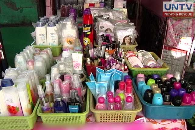 FILE PHOTO: Assorted beauty / cosmetic products  for sale