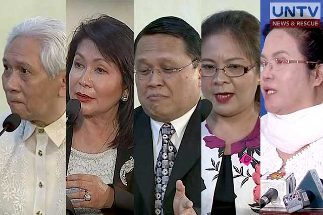 The aspirants for the Supreme Courts position to be left by the retiring Associate Justices Jose Perez and Arturo Brion.