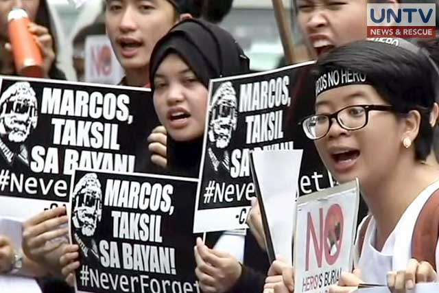 File photo: Anti-Marcos protesters.