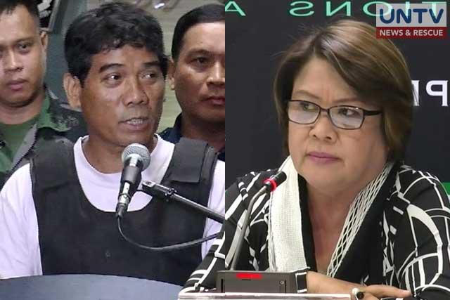 Ronnie Dayan (L) and Senator Leila de Lima (R).