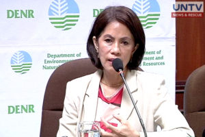 Department of Environment and Natural Resources Secretary Gina Lopez.