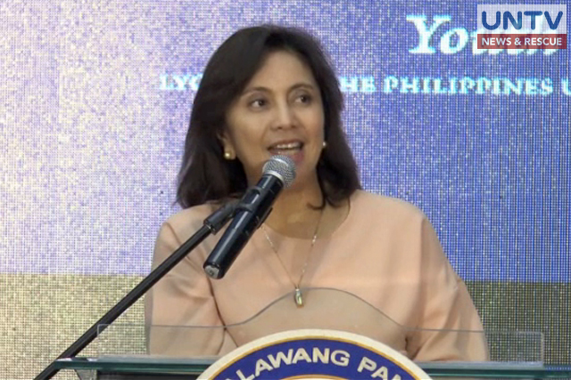 Vice President Leni Robredo speaks during 5th Youth Leaders Summit held at the Lyceum of the Philippines University-Cavite.