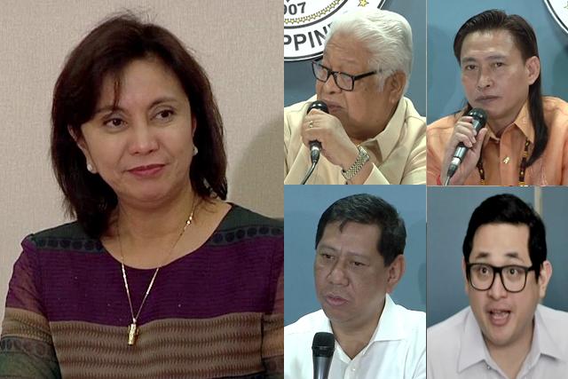 File photo: Vice President Leni Robredo (L), Rep. Edcel Lagman (top-left), Rep. Teddy Baguilat (top-right), Rep. Edgar Erice (lower-left) and Sen. Bam Aquino (lower right).