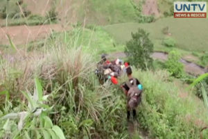 A band of rebels going down the mountain (Photo screengrab from YouTube video).