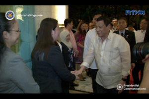 President Rodrigo Duterte arrives in Singapore, Thursday  (Dec. 15) for a two-day state visit.