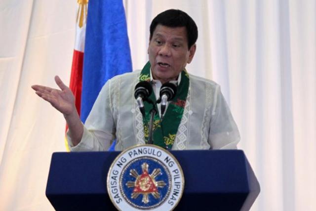FILE PHOTO: Philippine President Rodrigo Duterte. REUTERS/Lean Daval Jr