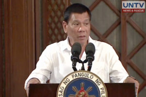 File photo: President Rodrigo Duterte.