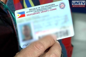 Applicants can now get their driver's license card at the office of the LTO.