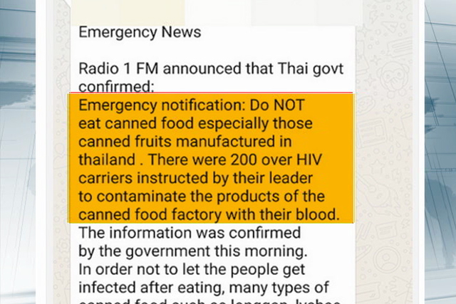 Thailand Canned Food Hiv