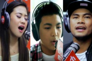 The first members of WISHclusive Elite Circle: Morisette Amon, Darren Espanto and Bugoy Drilon.