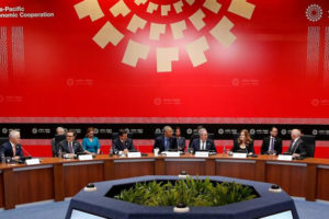 FILE PHOTO - U.S. President Barack Obama holds meeting with Trans-Pacific Partnership (TPP) leaders at the APEC Summit in Lima, Peru November 19, 2016. REUTERS/Kevin Lamarque/File photo