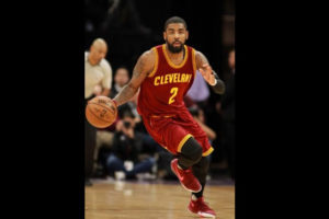 Jan 13, 2017; Sacramento, CA, USA; Cleveland Cavaliers guard Kyrie Irving (2) dribbles the ball down the court against the Sacramento Kings during the second quarter at Golden 1 Center. Mandatory Credit: Sergio Estrada-USA TODAY Sports