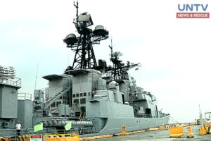 A Russian navy vessel, Admiral Tributs, docked in South Harbor, Manila for a goodwill visit.