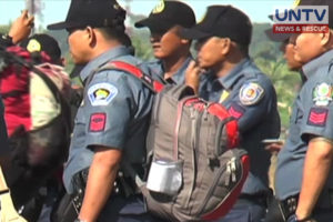 FILE PHOTO: Police personnel deployed to Basilan