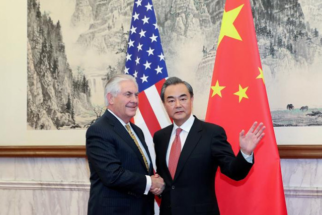 Korea Concerns on Forefront on Secretary of State Tillerson's Visit to China