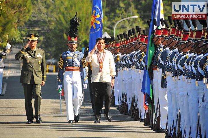 President Duterte on PMA Salaknib Class of 2017 commencement exercises (Cerilo Ebrano/Photoville International)