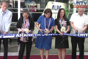 Vice President Robredo during the grand launch of Araneta Center busport