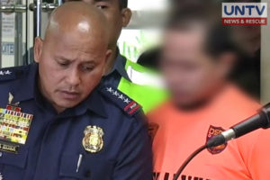 FILE PHOTO: PNP Chief Ronald dela Rosa and the alleged Maute member Nasip Ibrahim