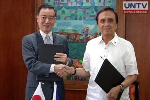 Japan International Cooperation Agency chief representative Susumu Ito and the National Economic Development Authority Secretary Ernesto Pernia.