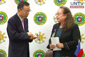Japan International Cooperation Agency (JICA) Representative Susumo Ito and Department of Health Secretary Paulyn Jean Ubial