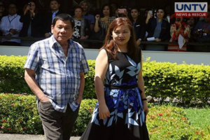 President Rodrigo Duterte and his common-law wife Honeylet Avanceña (Cerilo Ebrano\ Photoville International)