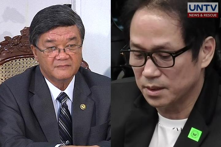 FILE PHOTO: Justice Secretary Aguirre and Atong Ang