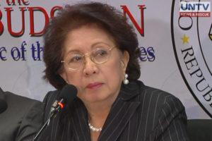 FILE PHOTO: Ombudsman Conchita Caprio-Morales