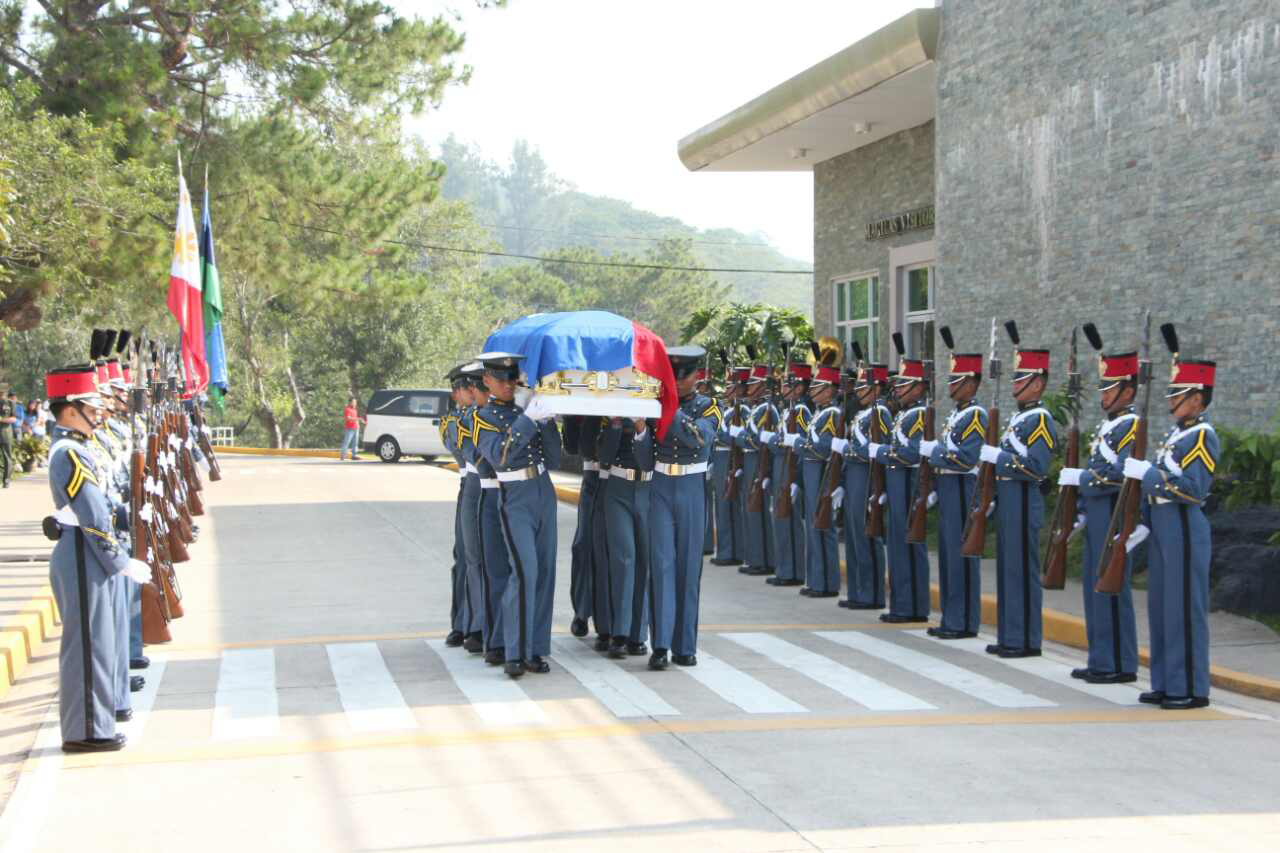 PMA held military honors to Cadet Fourth Class Erwin Christian Vergara (Courtesy: Philippine Military Academy)