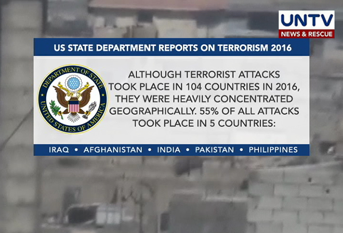 Terrorism reduced in Pakistan in 2016: United States report