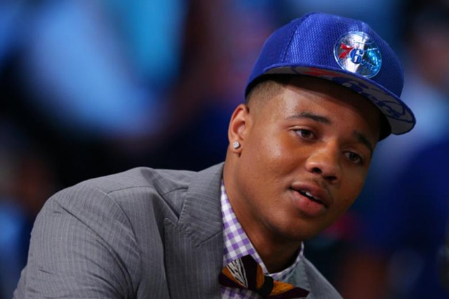 Sixers' top rookie Fultz goes down with ankle sprain