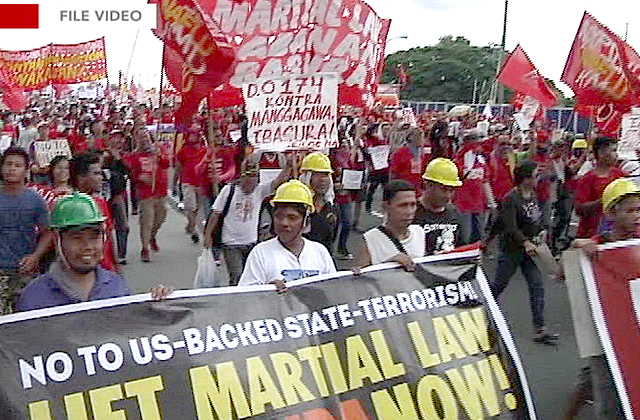 Thousands to join national protest to remind Filipinos of Marcos' Martial Law