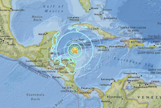Magnitude 7.6 earthquake triggers tsunami fears in Caribbean