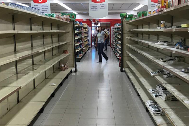 Superb Supermarket Shelves Nearly Empty After Maduro Price Cuts Home Remodeling Inspirations Genioncuboardxyz