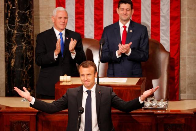 See Trump and Macron's Awkward Handshakes and Interactions